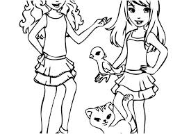 Lego Friends Printable Coloring Pages Friendship Coloring Pages Free