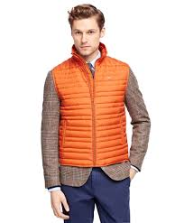 Brooks brothers Down Quilted Vest in Brown | Lyst & Gallery Adamdwight.com
