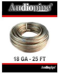18 gauge 25 feet clear speaker wire zip cable copper clad 12 volt image is loading 18 gauge 25 feet clear speaker wire zip
