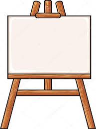 canvas on an easel stock vector