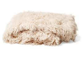 mongolian fur throw in pearl tourance com