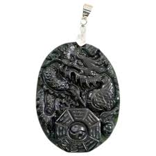 chinese pendant vintage carved dragon black jade pendant with i symbol chinese hanging lamps chinese gold jewelry s