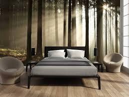 Fotobehang Slaapkamer Zwart Wit Eenvoudig Zelfklevend Fotobehang Bos