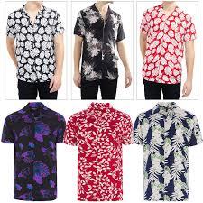 Mens Designer Summer Shirts Details About Brave Soul Mens Designer Stylish Tropical Hawaiian Floral Print Casual Shirt