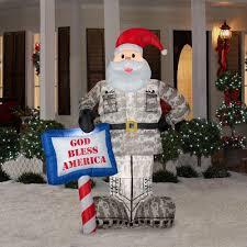 Amazon.com: CHRISTMAS DECORATION LAWN YARD INFLATABLE AIRBLOWN MILITARY  SANTA 7' TALL: Garden & Outdoor