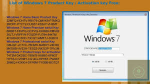 windows 7 key 2020 working