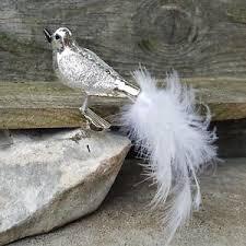 Details Zu 1x Christbaumschmuck Vogel Silber Weiß Glasvogel Weihnachten Baumschmuck