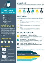 Flat Resume Infographic Design Resume Cv Set With Infographics