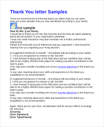7 Sample Thank You Letters After An Interview Sample Templates