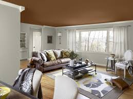 image of living room color schemes with black furniture