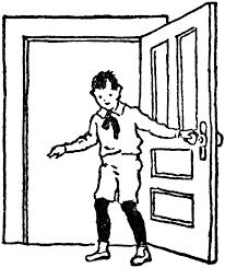 open and closed door clipart. Boy Closing Door Open And Closed Clipart E