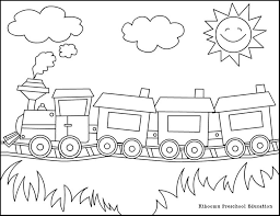 Free Coloring Pages For Preschoolers To Do With Kids Playing In The