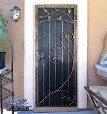 metal security screen door. Decorative Wrought Iron Security Screen Door Maybe Incorporate Butterfly Metal R
