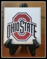 Football Display Stands Ohio State Picture Tile with stand by TSHeartsDesire100 on Etsy 98