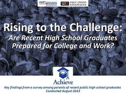 Rising to the Challenge: Are High School Graduates Prepared for College and  Work? Rising to the Challenge: Are High School Graduates Prepared for  College. - ppt download
