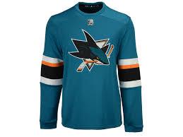 adidas long sleeve. san jose sharks adidas nhl men\u0027s platinum long sleeve jersey t-shirt