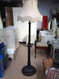 large hand carved floor lamp