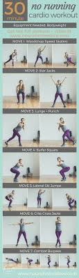 30 minute no running at home cardio workout nourishmovelove