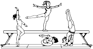 Small Picture Coloring Pages For Kids Gymnastics Steps Holidays Pinterest