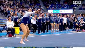 WATCH UCLA Gymnast Incorporates Whip and Nae Nae Into Her Floor