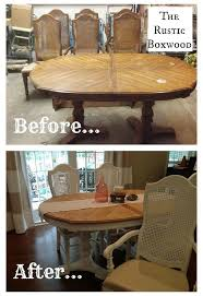 vintage dining room chairs. Vintage Dining Table And Cane Chairs Transformation Room I
