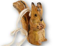 Weihnachten Dekoration Christbaumschmuck Anhänger Eichhörnchen Aus Holz Orange