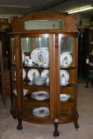 curved glass china cabinet repair designs