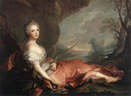 paintings th century blog marie adelaide of as diana 1745 current location uffizi gallery
