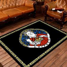 3d coffee table mats bedroom carpet baby mats 80x120 cm black cat 1