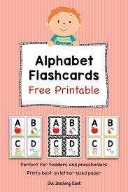 Free Alphabet Flash Cards Alphabet Flashcards Free Printable The Teaching Aunt