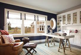 office seating area. Portland Behr Navy Blue Home Office Beach Style With Seating Area Victorian Bedroom Benches Cabinetry