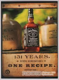 jack daniel s whiskey s print ad years one recipe jack daniel s whiskey 90s print ad 131 years one recipe alcohol advert jack daniels 1998