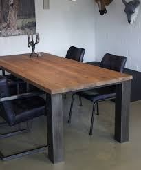 Tisch Balboa 50er Jahre Möbel Altholztische Baumkantentisch