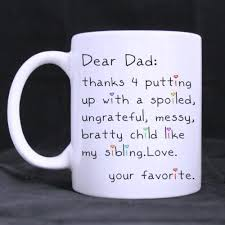 Us 1799 Funny Quotes Printed Coffee Mug Fathers Day Gift Dear Dad Thanks For Putting Up Ceramic White Mug Coffee Cups 11 Oz In Mugs From Home