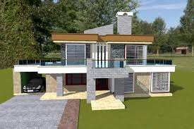 Contemporary House Plan   adroit architectureView   front view