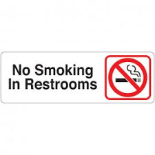 no smoking in restrooms directional sign restroom directional sign87 restroom