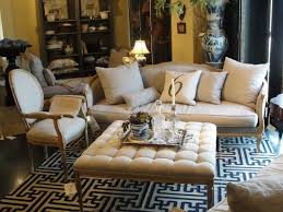 home interior elegant furnitures using ottoman as a coffee table t