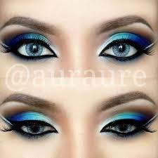 blue green silver eye makeup