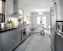 Gray Tile Floor Kitchen Kitchen White Cabinets With Gray Tiles White Subway Tile This