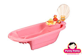 2 in 1 bath tub with toy organizer by potty patty pink for girls