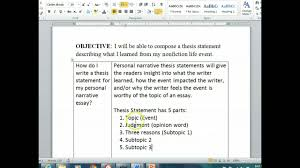 thesis for narrative essay