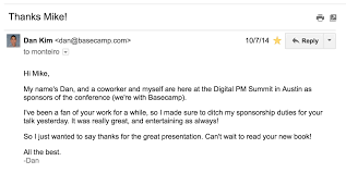 admire someone write them an email you might be surprised