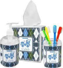 Bathroom: Splendid Mosaic Blue Bathroom Accessories With Tray And ...