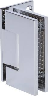 m 039pc 0 rockwell offset square corner shower hinge in chrome finish for heavy tempered glass shower doors