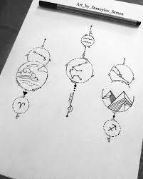 эскиз созвездиенебольшой сет эскизов со знаками зодиакаовен