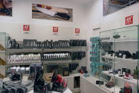 york designer outlet shops. sharp stock at zwilling in york. photographs: york designer outlet shops k