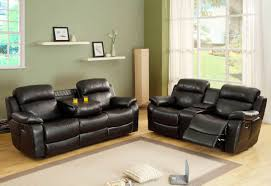 he 9724blk 2 pc marille collection black bonded leather match upholstered double reclining sofa and