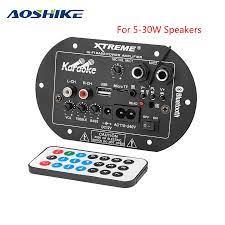 AOSHIKE AC 220V 12V Kỹ Thuật Số Bluetooth Bảng Mạch Khuếch Đại Loa Siêu  Trầm Kép Micro Hát Karaoke Khuếch Đại Xe Nhà Amplificador AMP 2020|Mono  Amplifiers