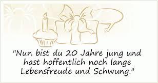 Sprüche Zum 20 Geburtstag Einer Von 20 Sprüchen