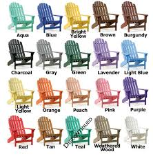 outdoor furniture colors. Colored Plastic Adirondack Chairs Amazing Furniture Perfect For Outdoor With Regarding 17 Colors O
